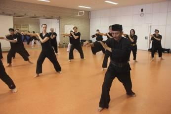 Gending Raspuzi saat memberikan workshop di Hannover, Jerman (1/9).